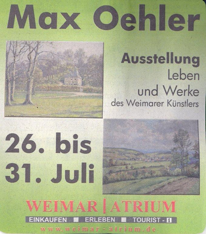 Max Oehler Ausstellung, Atrium