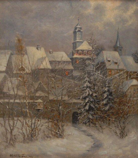 winter Stadt